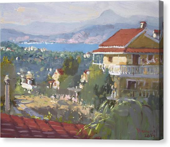 Greek Art Canvas Print - Dilesi Athens by Ylli Haruni