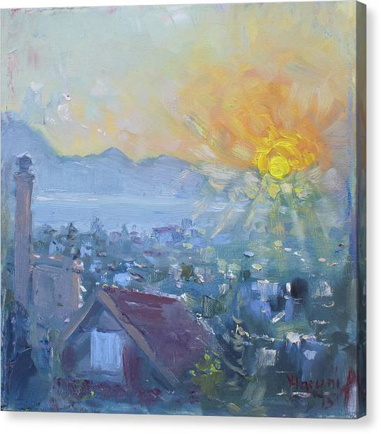 Greek Art Canvas Print - Dilesi In A Brand New Day  by Ylli Haruni