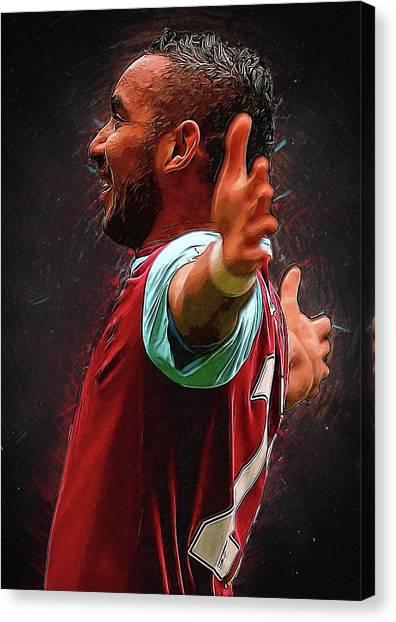Zlatan Ibrahimovic Canvas Print - Dimitri Payet by Semih Yurdabak