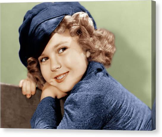 Temple Canvas Print - Dimples, Shirley Temple, 1936 by Everett
