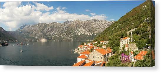 Dinaric Alps And Kotor Bay Canvas Print by Matt Tilghman