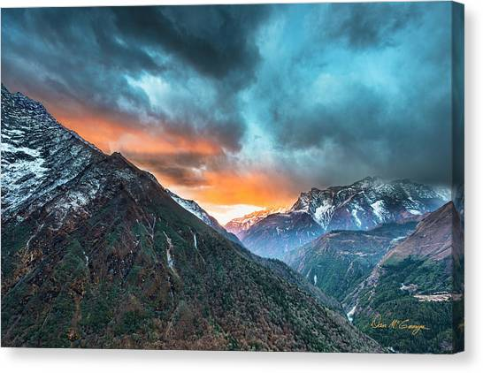 Canvas Print featuring the photograph Dingboche Sunrise by Dan McGeorge