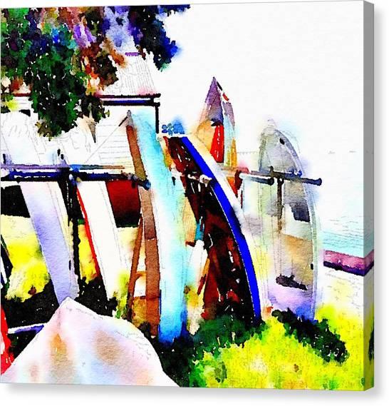 Dinghies At Devonport Canvas Print