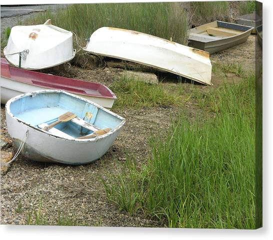 Dinghy Canvas Print by Peter Williams