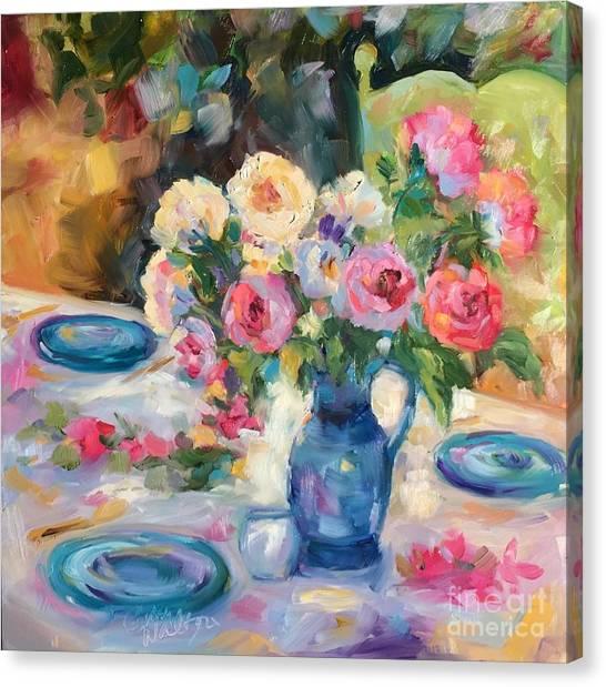 Dining Alfresco Canvas Print