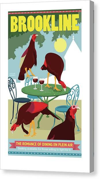 Dining En Plein Air Canvas Print