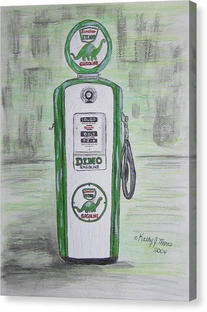 Dino Sinclair Gas Pump Canvas Print