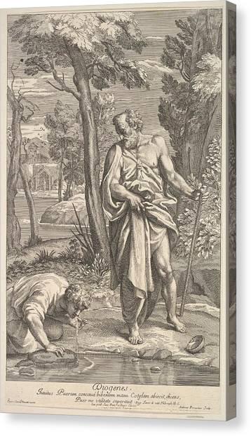 Procaccini Canvas Print - Diogenes by Andrea Procaccini