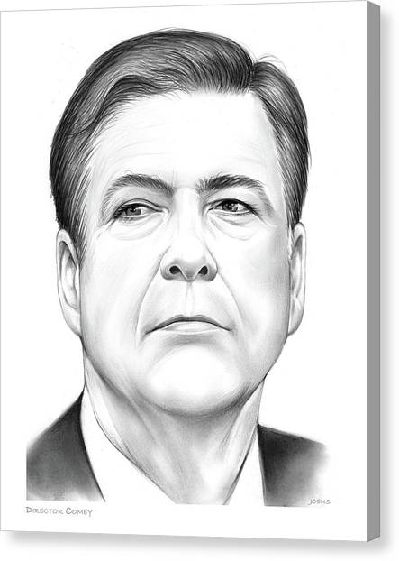 Political Canvas Print - Director Comey by Greg Joens