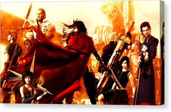 Final Fantasy Canvas Print - Dirge Of Cerberus Final Fantasy Vii by Super Lovely