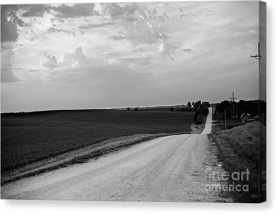 Canvas Print featuring the photograph Dirt Road by Sandy Adams