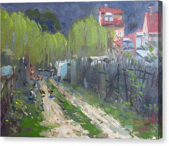 Greek Art Canvas Print - Dirt Road To Elida's Garden by Ylli Haruni