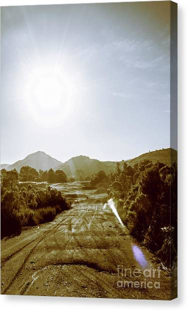 Dirt Road Canvas Print - Dirt Roads Of Outback Tasmania by Jorgo Photography - Wall Art Gallery