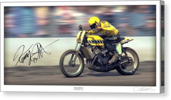 Yamaha Canvas Print - Dirt Speed by Lar Matre