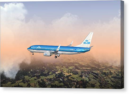 Dirty 737ng 28.8x18 Canvas Print