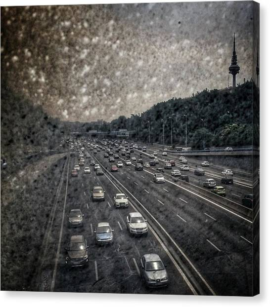 Dirt Road Canvas Print - Dirty Piruli #madrid #traffic #street by Rafa Rivas