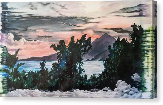 Disapearing Landscape #1 Canvas Print by Darren Mulvenna