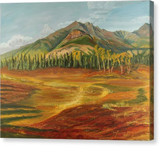 Disappearing Lake Canvas Print by Amy Reisland-Speer