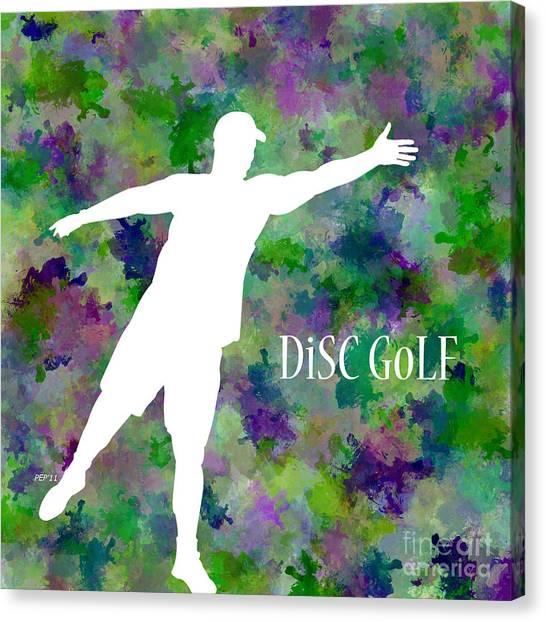 Disc Golf Canvas Print - Disc Golf #3 by Phil Perkins