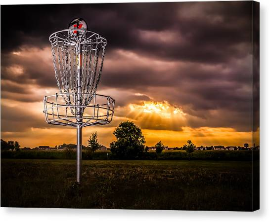 Disc Golf Canvas Print - Disc Golf Anyone? by Ron Pate