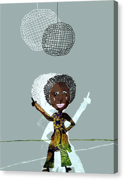 Canvas Print - Disco Lady by Laura Botsford