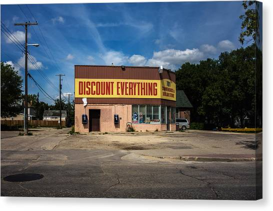Discount Everything Canvas Print by Bryan Scott