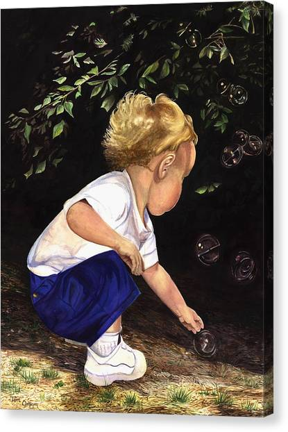 Discovering Bubbles Canvas Print by Terri  Meyer