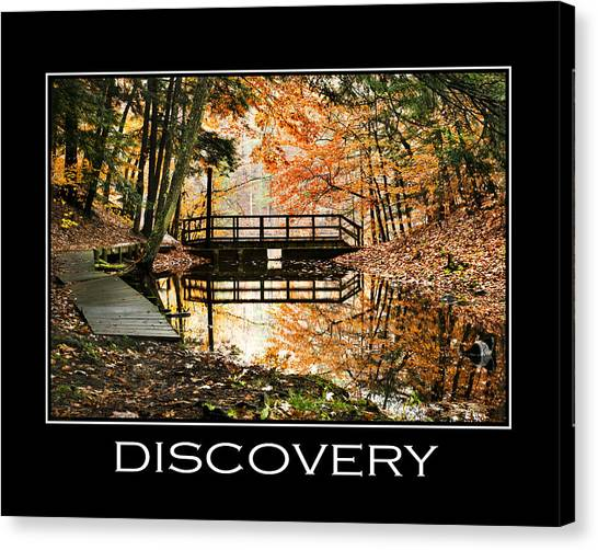 Search Canvas Print - Discovery Inspirational Motivational Poster Art by Christina Rollo