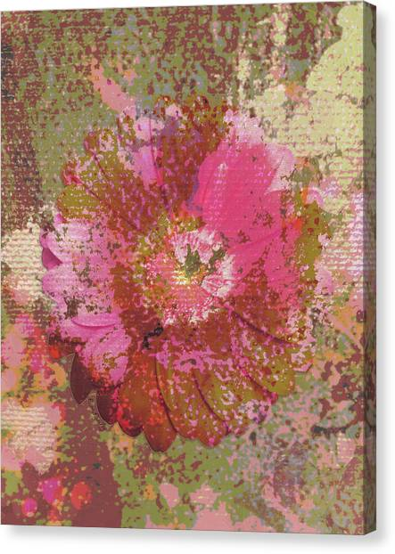 Pink Camo Canvas Print - Disguised Blossom by Lisa Dailey Fine Art