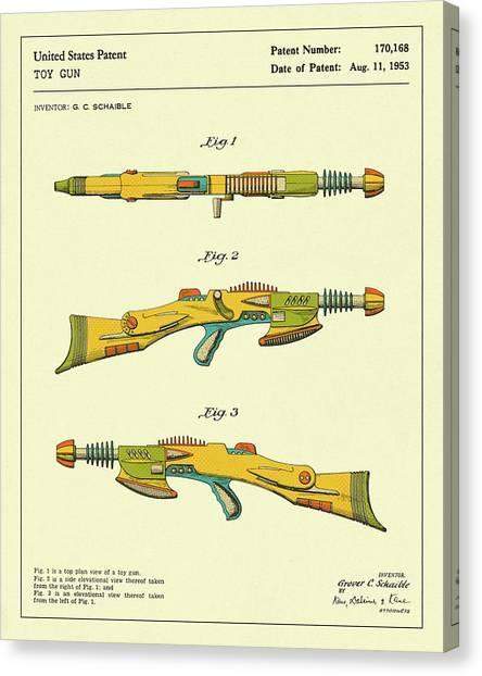 Guns Canvas Print - Disintegrator Rifle 1953 by Jazzberry Blue