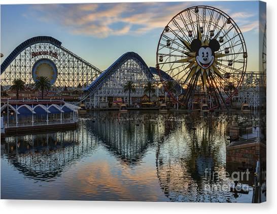 Disney California Adventure Reflections Canvas Print