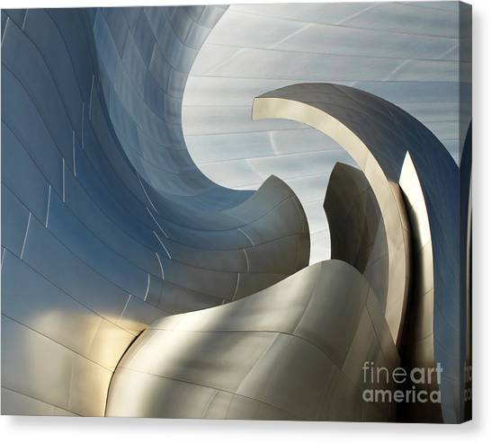 Disney Concert Hall Swirl Canvas Print