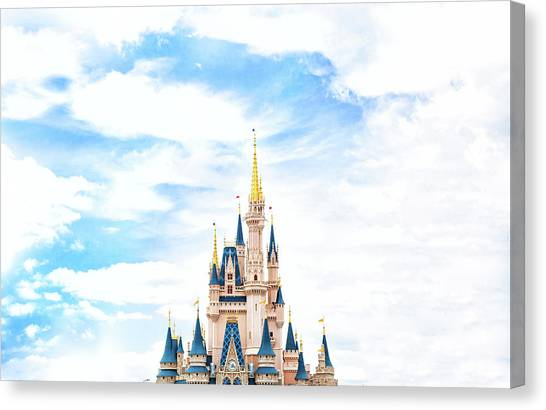 Castle Canvas Print - Disneyland by Happy Home Artistry