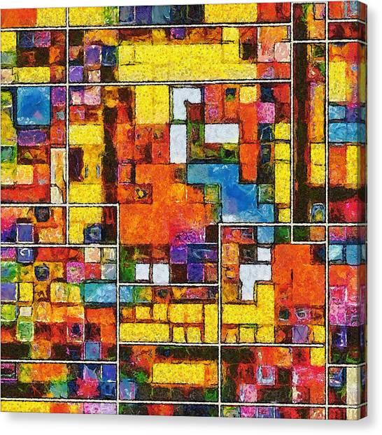 Tetris Canvas Print - Disobedience  by Ricardo Castro Nunes