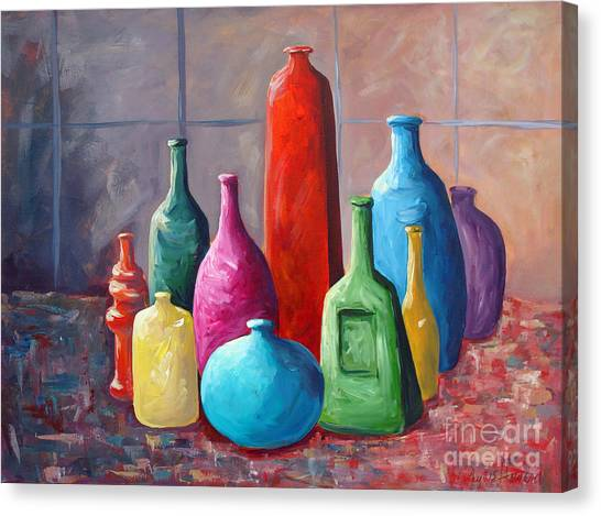 Display Bottles Canvas Print