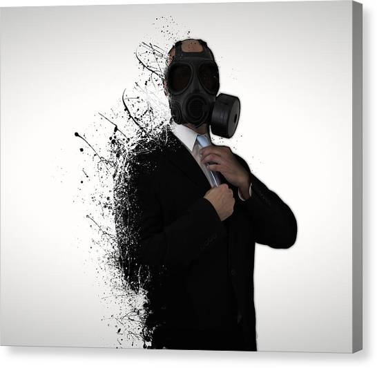 Men Canvas Print - Dissolution Of Man by Nicklas Gustafsson