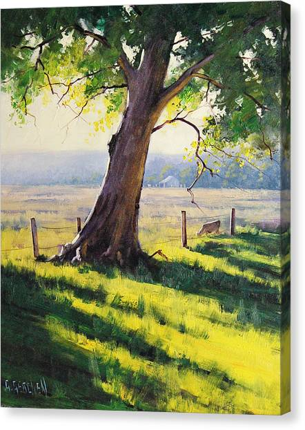 Rural Scenes Canvas Print - Distant Farm by Graham Gercken