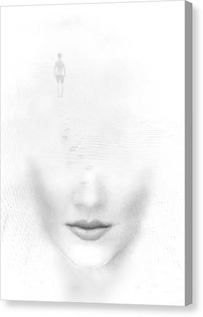 Conceptual Art Canvas Print - Distant Footsteps by Jacky Gerritsen