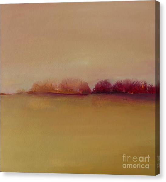 Distant Red Trees Canvas Print