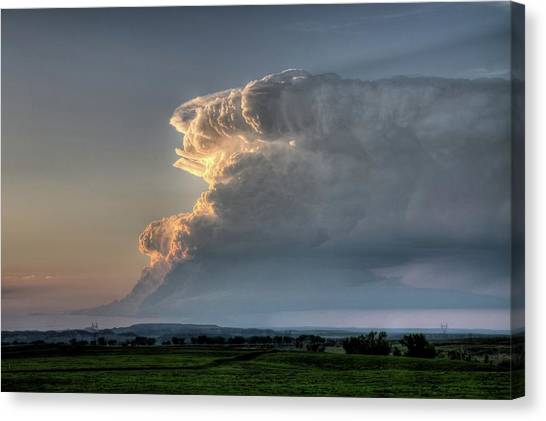 Distant Thunderstorm Canvas Print
