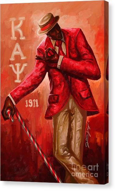 Alpha Kappa Alpha Canvas Print - Distinguished Kappa Alpha Psi by The Art of DionJa'Y