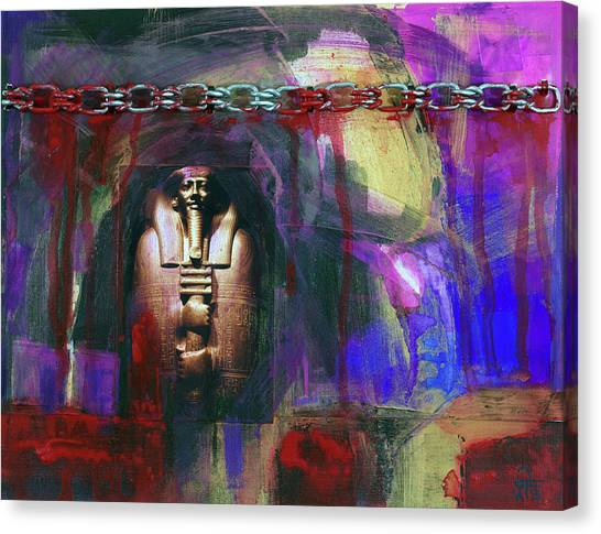 Distressed Civilization  Canvas Print by Walter Fahmy