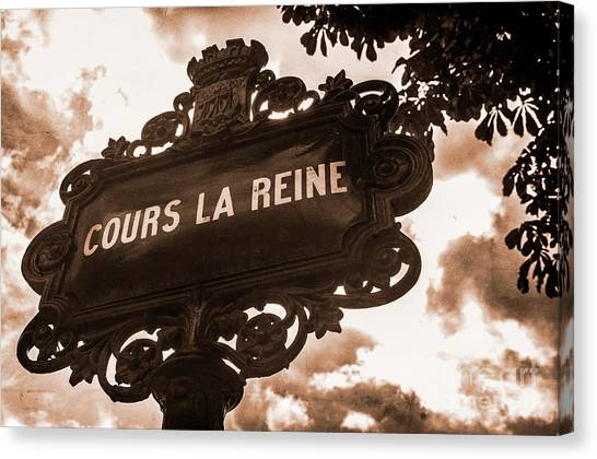 Distressed Parisian Street Sign Canvas Print