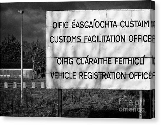Brexit Canvas Print - Disused Irish Customs Office Near The Irish Border Between Northern Ireland And Republic Of Ireland by Joe Fox