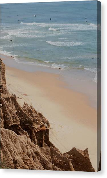 Ditch Plains Surfers Canvas Print