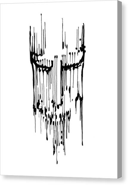 Canvas Print featuring the drawing Dither by Keith A Link