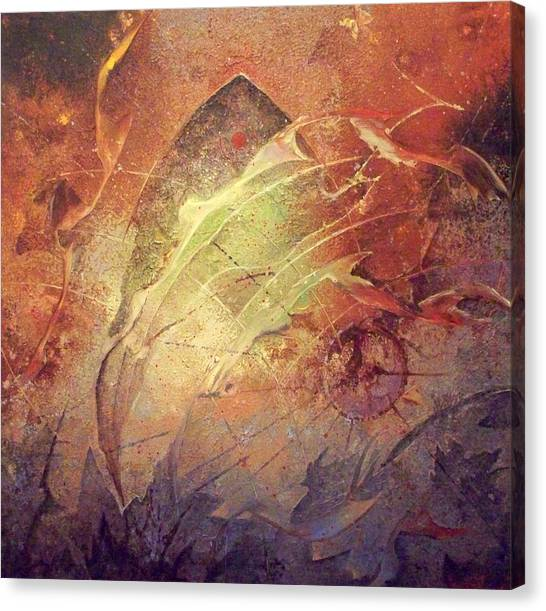 Dive Canvas Print by Fred Wellner