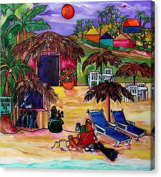 Dive Shack Canvas Print by Patti Schermerhorn