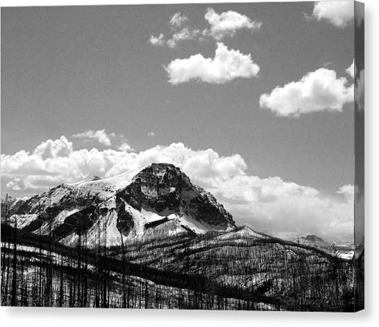Divide In Blackand White Canvas Print