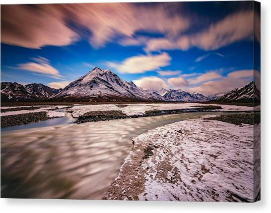 Denali Canvas Print - Divide Mountain by Rick Berk